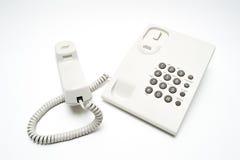 Άσπρο τηλέφωνο Στοκ Φωτογραφία