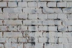 Άσπρο τοίχων υποβάθρου παλαιό βρώμικο σκηνικό σύστασης τούβλου οριζόντιο brickwall πέτρινο Στοκ Φωτογραφία