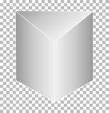 Άσπρο τριγωνικό πρίσμα που απομονώνεται στο διαφανές υπόβαθρο Στοκ φωτογραφία με δικαίωμα ελεύθερης χρήσης