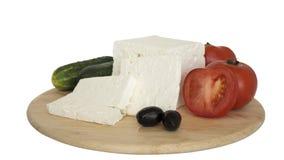 Άσπρο τυρί Στοκ Φωτογραφία