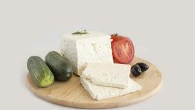 Άσπρο τυρί Στοκ Εικόνες