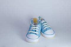 άσπρο υπόβαθρο λειών blu μωρών στοκ εικόνα