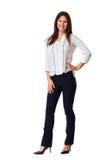Άσπρο υπόβαθρο επιχειρησιακών γυναικών στοκ εικόνες με δικαίωμα ελεύθερης χρήσης