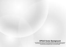 Άσπρο υπόβαθρο κλίσης κύκλων αφηρημένο Στοκ Εικόνες