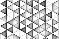 Άσπρο υπόβαθρο με τα άσπρες τρίγωνα και τις σκιές Στοκ Εικόνες