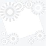 Άσπρο υπόβαθρο με το αφηρημένο πρότυπο σχεδίου κύκλων Στοκ εικόνα με δικαίωμα ελεύθερης χρήσης