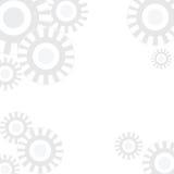 Άσπρο υπόβαθρο με το αφηρημένο σχέδιο κύκλων Στοκ Εικόνες
