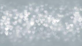 Άσπρο υπόβαθρο μορίων καρδιών Στοκ Φωτογραφία