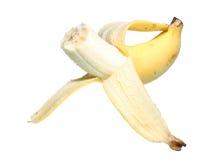 Άσπρο υπόβαθρο μπανανών Στοκ Φωτογραφίες