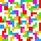 Άσπρο υπόβαθρο παιχνιδιών Tetris Στοκ Εικόνες