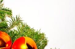 Άσπρο υπόβαθρο Παραμονής Πρωτοχρονιάς και Χριστουγέννων Στοκ φωτογραφία με δικαίωμα ελεύθερης χρήσης