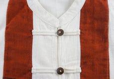 Άσπρο υπόβαθρο πουκάμισων βαμβακερού υφάσματος Στοκ Εικόνα