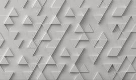 Άσπρο υπόβαθρο σκηνικού σχεδίων τριγώνων στοκ εικόνες