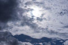 Άσπρο υπόβαθρο σύννεφων ουρανού Στοκ Εικόνα