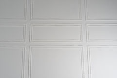Άσπρο υπόβαθρο σύστασης τοίχων με τα σύνορα Στοκ Εικόνες