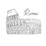 Άσπρο υπόβαθρο της Ρώμης Ιταλία Coliseum Στοκ φωτογραφία με δικαίωμα ελεύθερης χρήσης