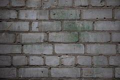Άσπρο υπόβαθρο τοίχων Παλαιά βρώμικη οριζόντια σύσταση τουβλότοιχος Σκηνικό Brickwall Πέτρινη ταπετσαρία Εκλεκτής ποιότητας τοίχο Στοκ εικόνα με δικαίωμα ελεύθερης χρήσης