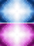 Άσπρο διαγώνιο υπόβαθρο φαντασίας με τα αστέρια Στοκ Φωτογραφία