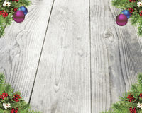 Άσπρο υπόβαθρο Χριστουγέννων Στοκ εικόνα με δικαίωμα ελεύθερης χρήσης