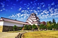 Άσπρο φθινόπωρο κάστρων στην Ιαπωνία στοκ φωτογραφίες