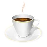 Άσπρο φλυτζάνι καφέ απεικόνιση αποθεμάτων