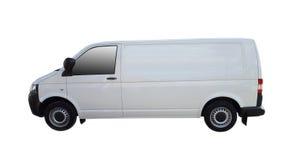Άσπρο φορτηγό παράδοσης στοκ φωτογραφίες