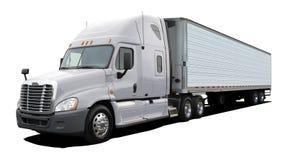 Άσπρο φορτηγό freightliner Κολούμπια στοκ φωτογραφία με δικαίωμα ελεύθερης χρήσης