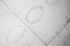 άσπρο φτερό σύστασης αεροπλάνων Στοκ εικόνα με δικαίωμα ελεύθερης χρήσης