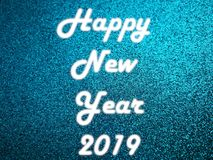 Άσπρο φως νέου καλής χρονιάς 2019 στοκ εικόνα με δικαίωμα ελεύθερης χρήσης