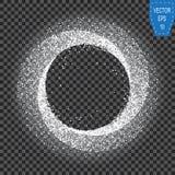 Άσπρο φως πυράκτωσης νέου μαγικό Κύμα επίδρασης στροβίλου πυράκτωσης Ακτινοβολήστε μαγικό ίχνος στροβίλου σπινθηρίσματος στο διαφ Στοκ εικόνες με δικαίωμα ελεύθερης χρήσης