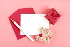 Άσπρο φύλλο του εγγράφου για ένα μήνυμα αγαπημένο στοκ φωτογραφία με δικαίωμα ελεύθερης χρήσης