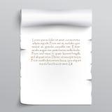 Άσπρο φύλλο του παπύρου Στοκ Εικόνες