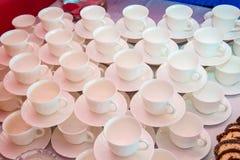 Άσπρο φλιτζάνι του καφέ ή τσάι Στοκ Εικόνες