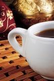 Άσπρο φλιτζάνι του καφέ Στοκ εικόνες με δικαίωμα ελεύθερης χρήσης