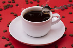 Άσπρο φλυτζάνι καφέ Στοκ εικόνα με δικαίωμα ελεύθερης χρήσης