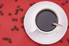 Άσπρο φλυτζάνι καφέ Στοκ φωτογραφίες με δικαίωμα ελεύθερης χρήσης
