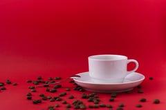 Άσπρο φλυτζάνι καφέ Στοκ Εικόνα