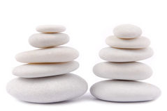 Άσπρο χαλίκι πετρών zen Στοκ Φωτογραφία