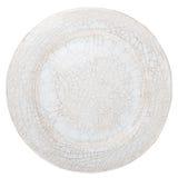 Άσπρο χειροποίητο πιάτο αγγειοπλαστικής Στοκ εικόνες με δικαίωμα ελεύθερης χρήσης