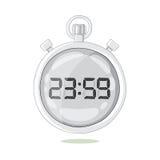 Άσπρο χρονόμετρο με διακόπτη που αιωρείται στον αέρα Στοκ φωτογραφία με δικαίωμα ελεύθερης χρήσης
