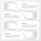 Άσπρο χρώμα σχεδιαγράμματος εμβλημάτων Στοκ Εικόνα