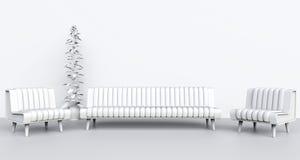 Άσπρο δωμάτιο σαλονιών Στοκ φωτογραφία με δικαίωμα ελεύθερης χρήσης
