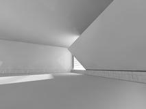 Άσπρο δωμάτιο Bigt και μεγάλη τρισδιάστατη απόδοση παραθύρων Στοκ Φωτογραφία