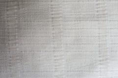 Άσπρο ύφασμα βαμβακιού με τις γραμμές ανακούφισης Στοκ εικόνα με δικαίωμα ελεύθερης χρήσης