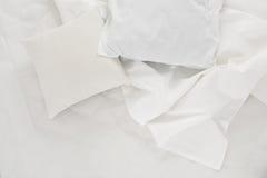Άσπρο ύφασμα λινού Στοκ φωτογραφία με δικαίωμα ελεύθερης χρήσης