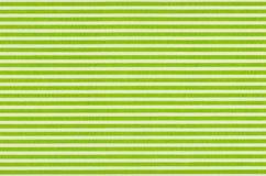 Άσπρο ύφασμα με τα πράσινα λωρίδες Στοκ εικόνες με δικαίωμα ελεύθερης χρήσης