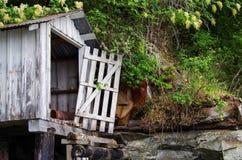 Άσπρο boathouse Στοκ Εικόνες