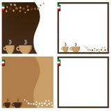Άσπρο braun Ιταλία καρτών καφέ braun Στοκ Εικόνες