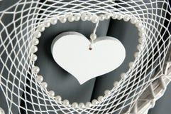 Άσπρο catcher ονείρου καρδιών δαντελλών Στοκ εικόνες με δικαίωμα ελεύθερης χρήσης