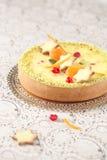 Άσπρο Cheesecake σοκολάτας στοκ εικόνες